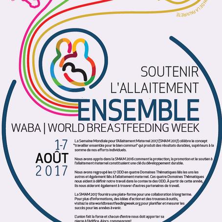 Première semaine du mois d'août : Semaine mondiale de l'allaitement maternel internationale
