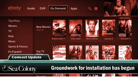 Groundwork for Comcast installation is underway