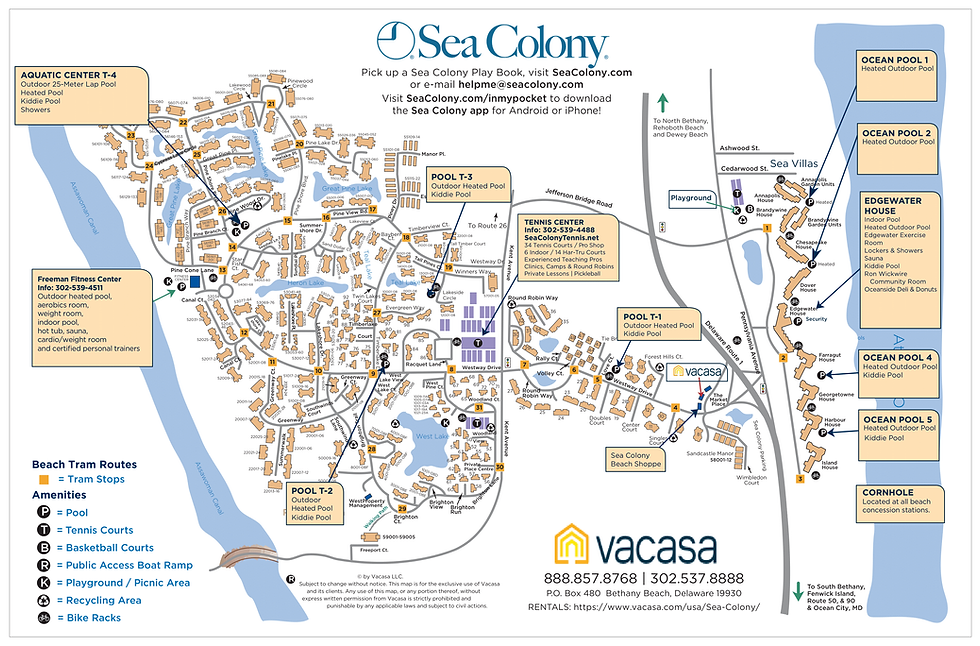 Sea Colony Community Map