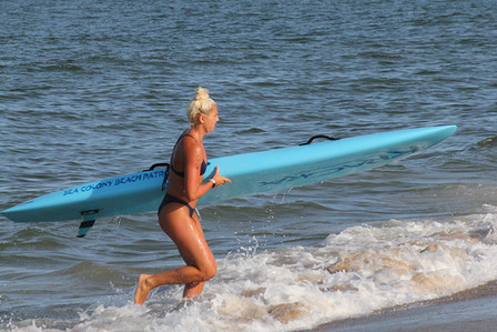 Sea Colony Beach Patrol returns with another first place win during the largest all-women lifeguard
