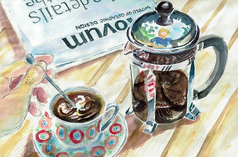 Illustratie tas koffie