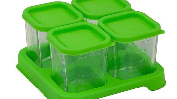 Green Sprouts 4 oz Glass Baby Food Tray