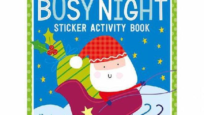 Santa's Busy Night Sticker Book 3+y