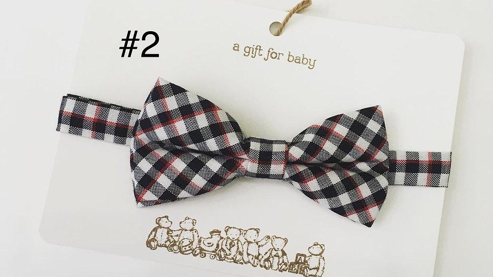 Child's Bow Tie Plaid