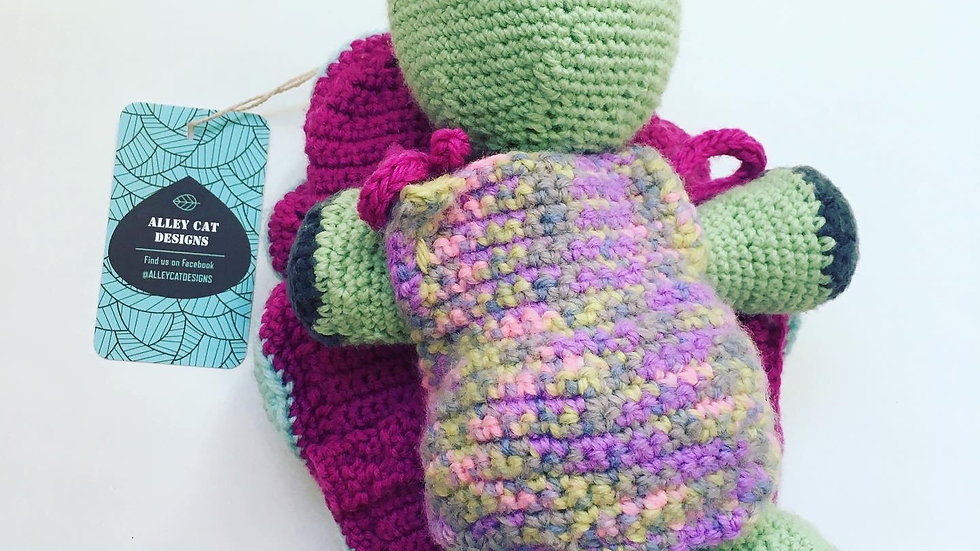 Alley  Cat Designs Plush Turtle