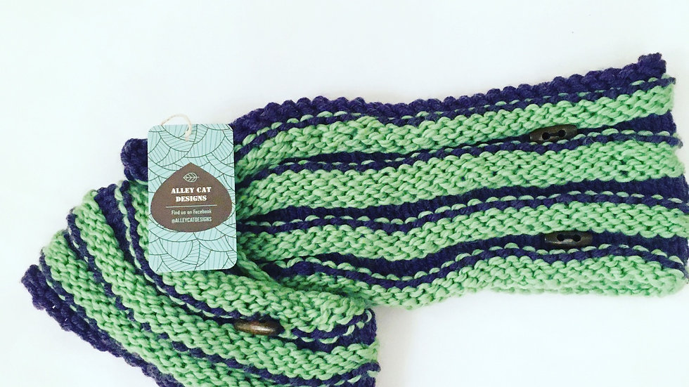Alley Cat Designs Knitted Baby & Parent Matching Cowls