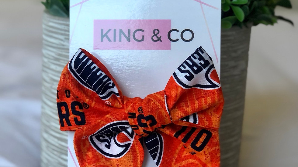 King & Co Oilers Large Bow