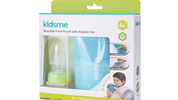 Kidsme Reusable Food Pouch with Adapter