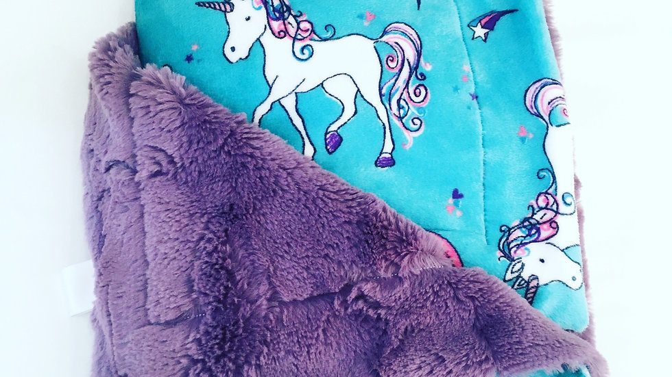Rock Me Mamma & Baby Unicorn Minky Blanket