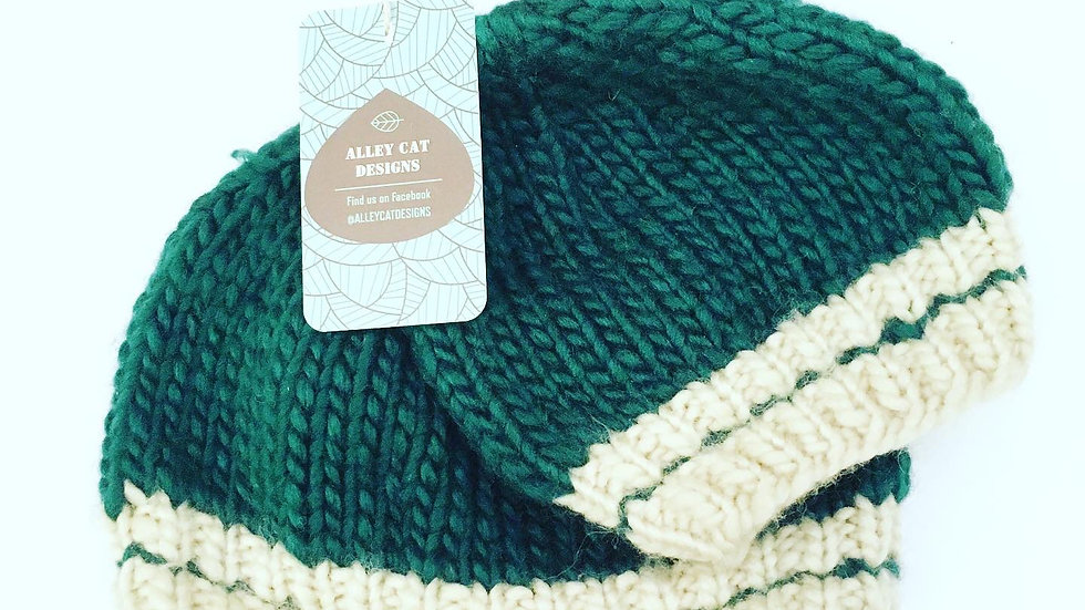 Alley Cat Designs Knitted Parent and Baby Toque Set