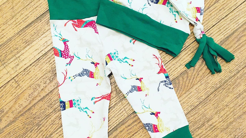 Skoochie Coo Holiday Pants and Cap Set 6-12m