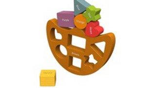 BeginAgain Shapes and Colours Balance Boat