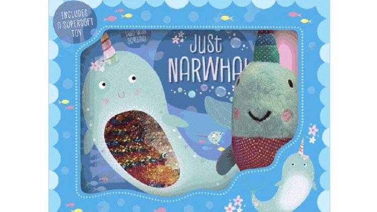 Just Narwhal Box Set Book and Plush Toy