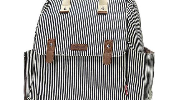 Babymel Convertible Diaper Backpack Navy Stripe