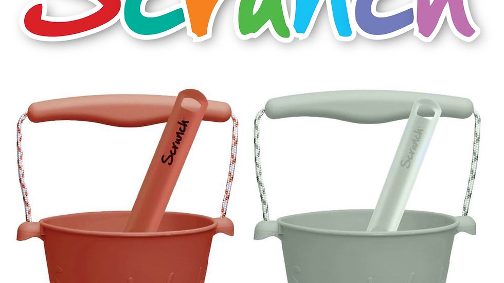 Scrunch Bucket and Spade Sand Set