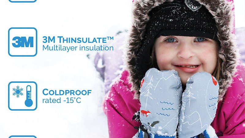 Twinklebelle Waterproof Mittens  2-4 years