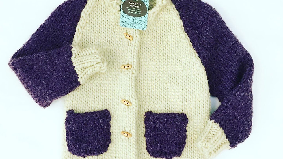 Alley Cat Designs Knitted Sweater 3y