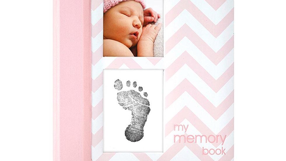 Pearhead Memory Book Pink Chevron