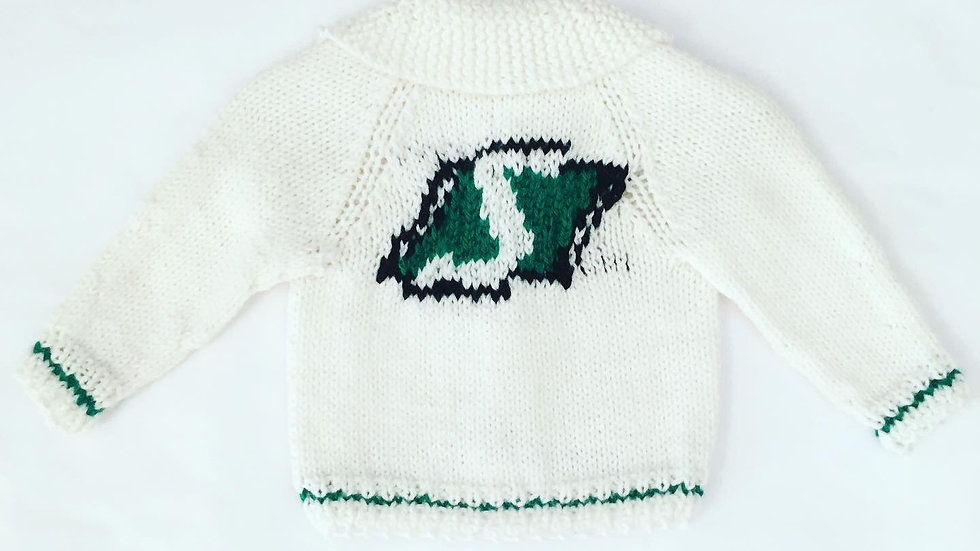 Alley Cat Designs Knitted Sweater 3-6m