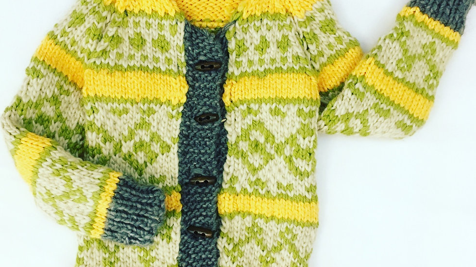 Alley Cat Designs Knitted Sweater 4y