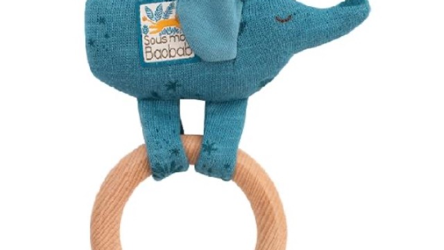 Moulin Roty Elephant Ring Rattle