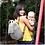 Thumbnail: Babymel Convertible Diaper Backpack Navy Stripe