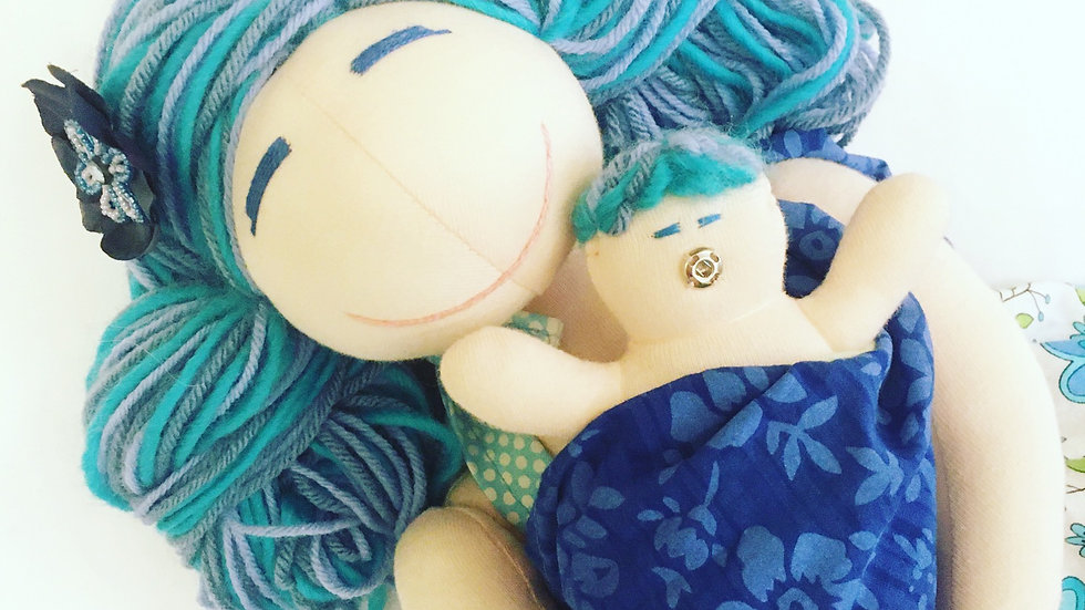 MamAmor Handmade Breastfeeding Birthing Doll Nora