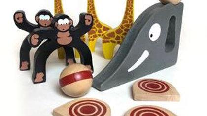 BeginAgain Wood Safari Bowling
