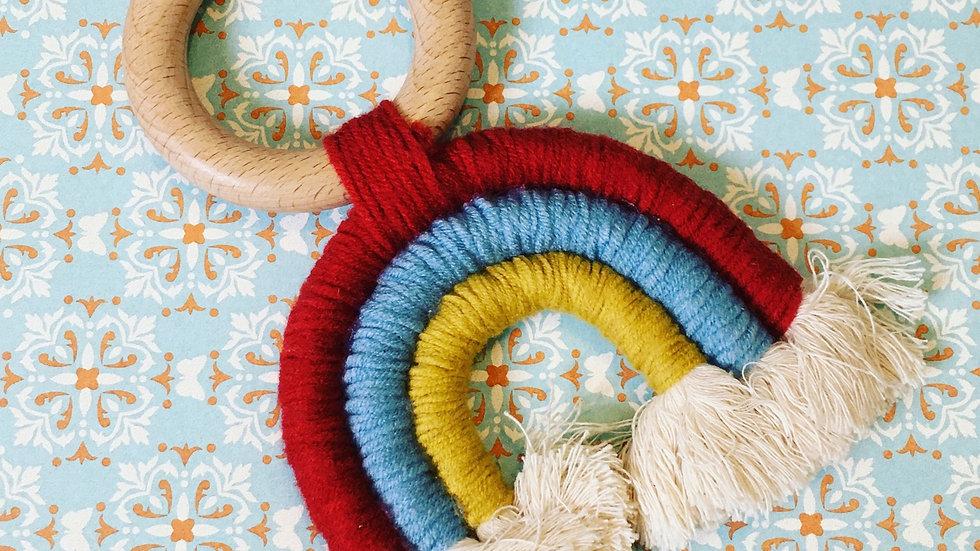 Rainbow Wood Teether