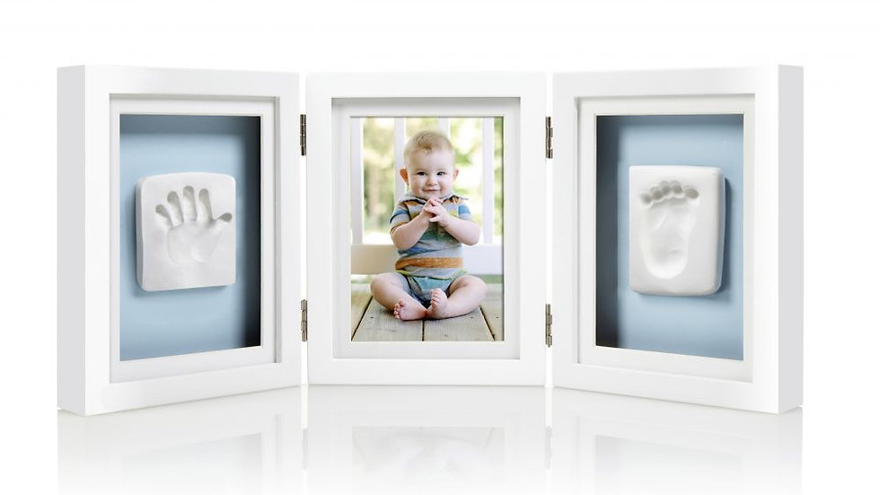 Pearhead Baby Prints Deluxe Desk Frame White