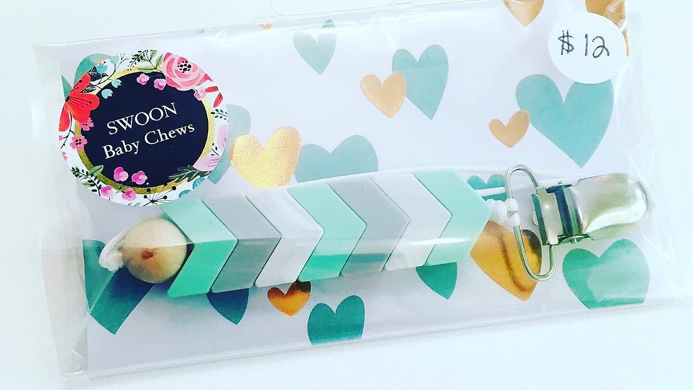 Swoon Baby Chews -  Silicone Soother/Toy Clip