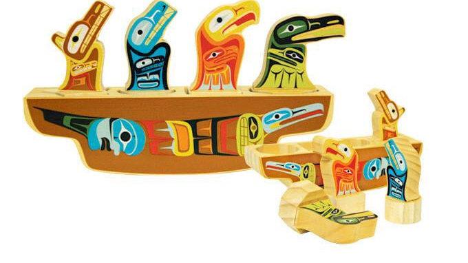 Native Northwest Animal Journey Shape Sorter Canoe