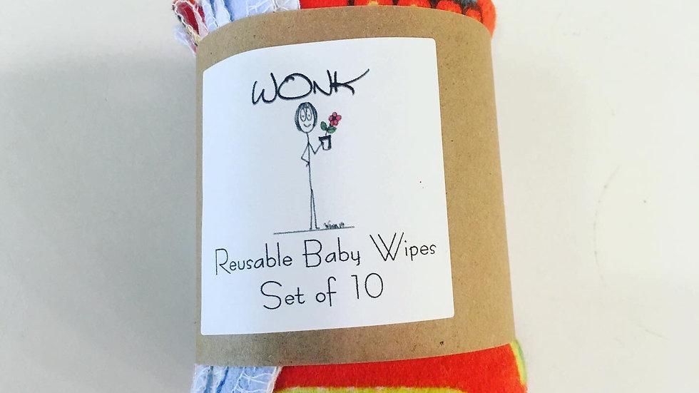 WONK Reusable Baby Wipes 10 pk