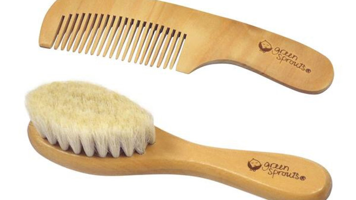 Green Sprouts Wood Brush & Comb Set