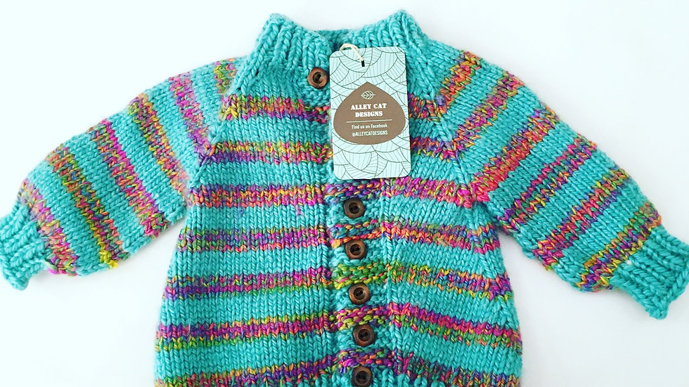 Alley Cat Designs Knitted Sweater 0-3m