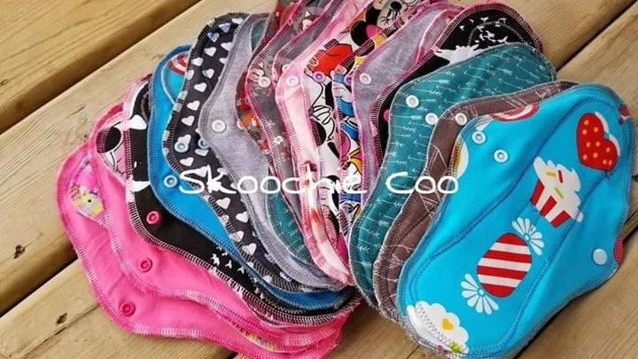 Skoochie Coo Cloth Menstrual Pads - Very Light/Light