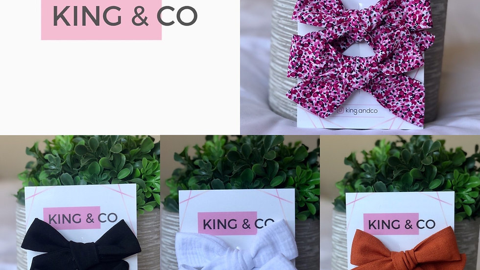 King & Co Mini Bow Clip 2 pack