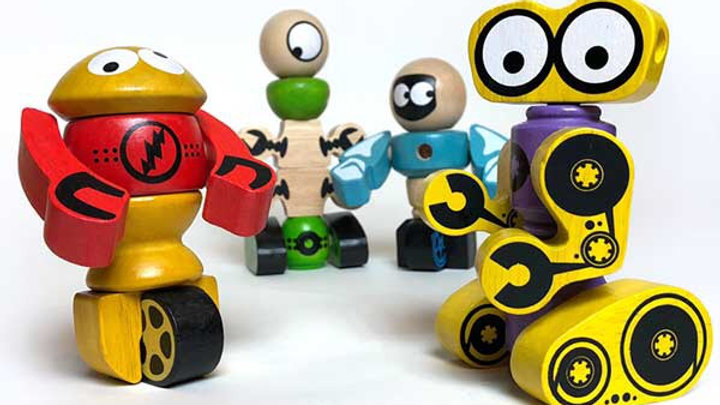 BeginAgain Tinker Totter Robots