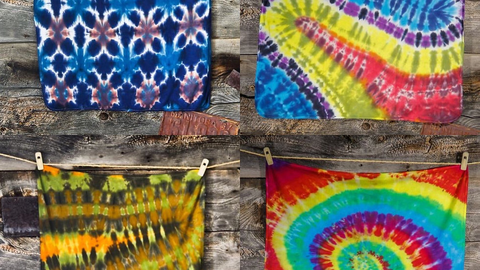 A Craft Menagerie Hand Dyed Swaddle Blankets