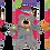 Thumbnail: KONG Cat Softies Patchwork Bear
