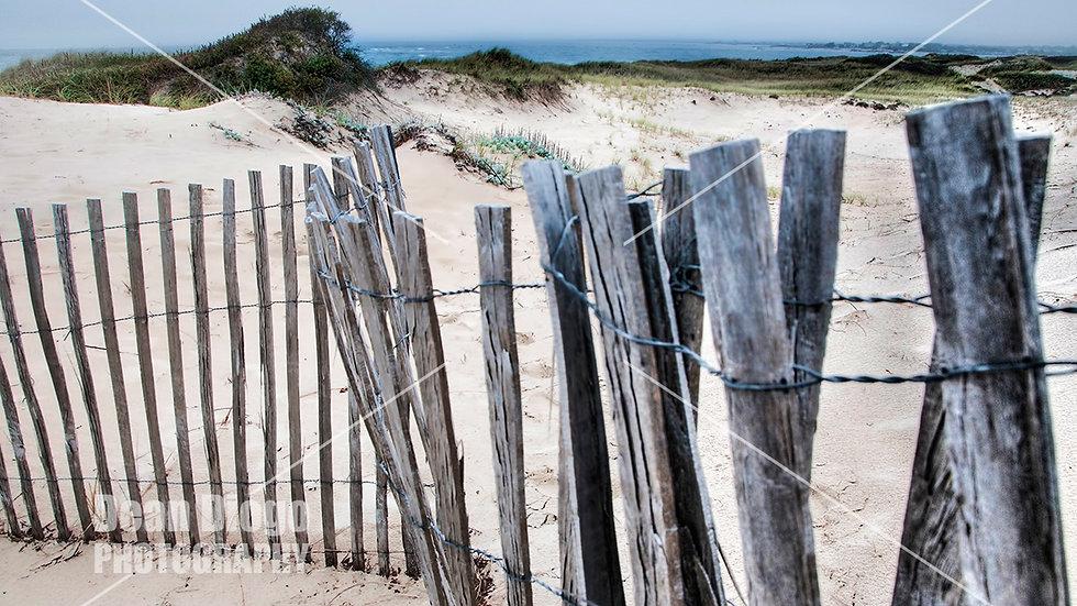 Beach wood fence