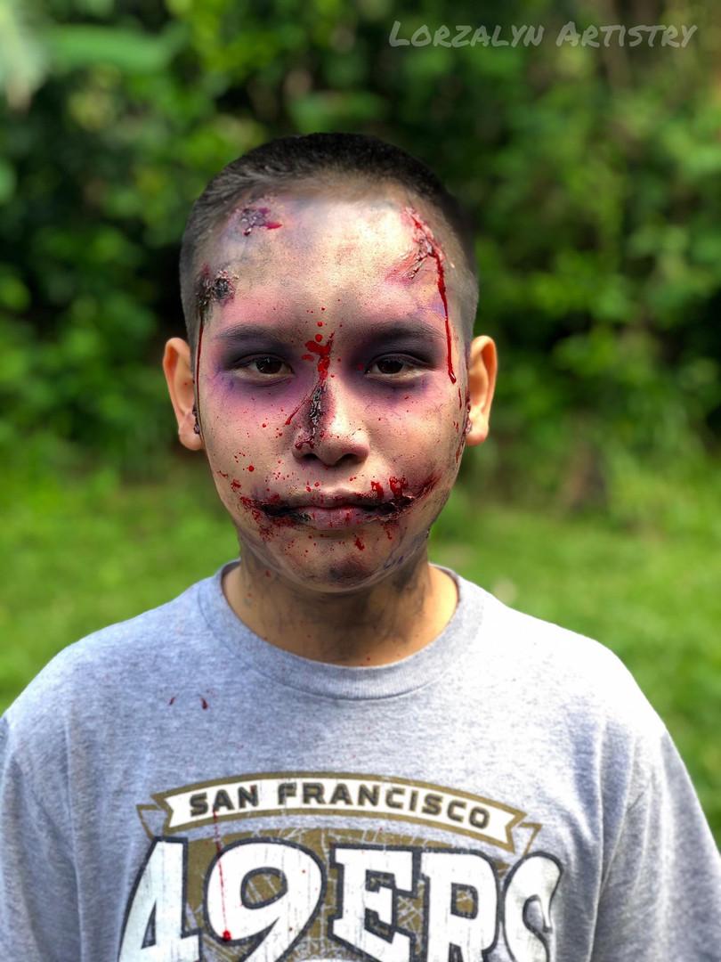 Zombie Boy FX Makeup Bruises Special Eff