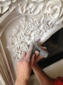 Hand carved marble