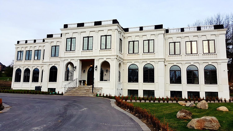 Colonial stone facade