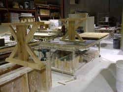 Cedar dining table