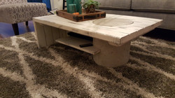concrete wood coffee table