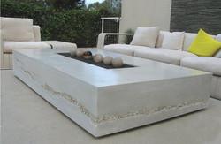 Concrete outdoor table
