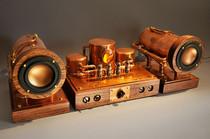 Custom steampunk tube amp and speaker