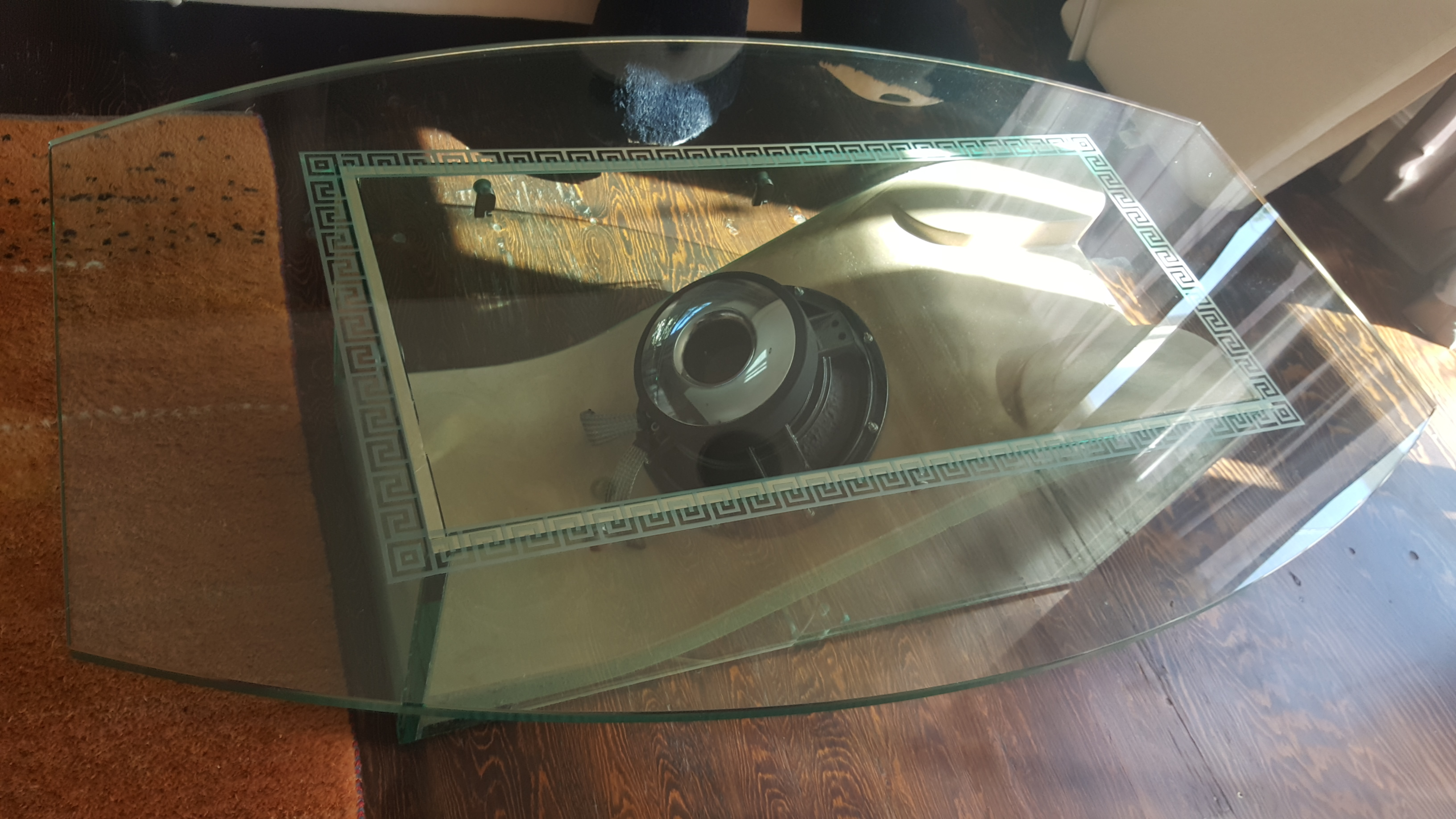 Speaker coffee table