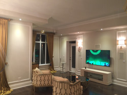 Linear condo fireplace